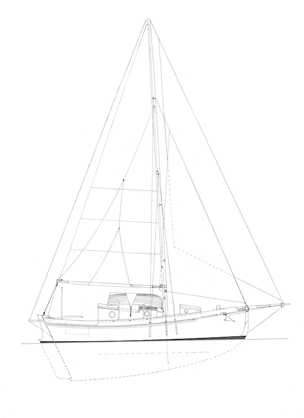 FALMOUTH CUTTER 26 drawing