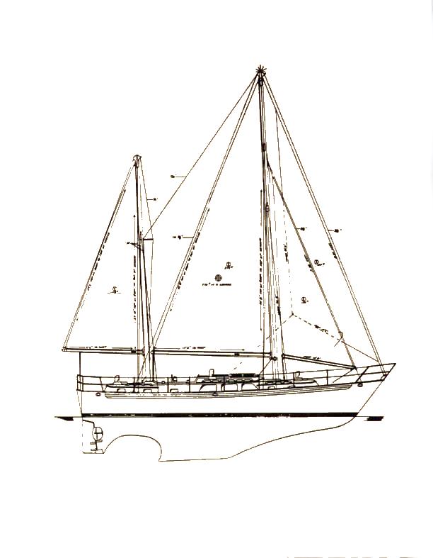 PASSPORT 45 (HOYT) drawing