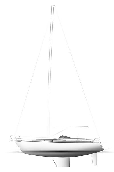 C-YACHT 1150 drawing