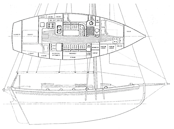FALMOUTH CUTTER 34 drawing