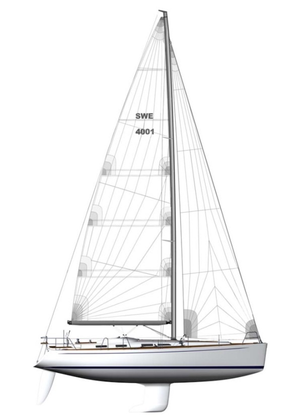 SWEDEN YACHTS 40 drawing