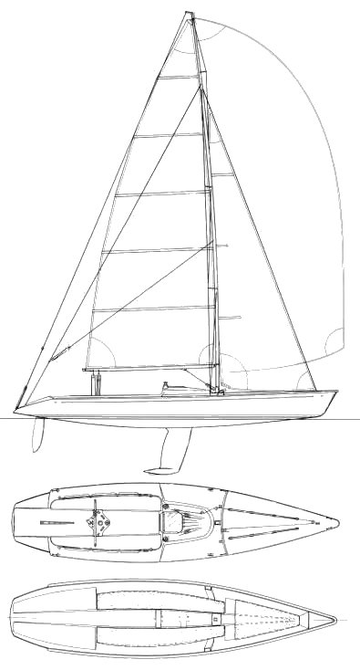 11 Meter One Design drawing on sailboatdata.com