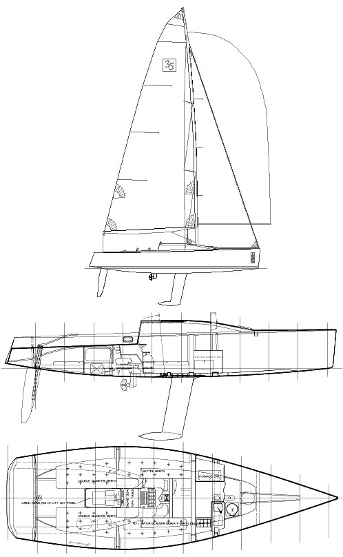 1D 35 drawing on sailboatdata.com