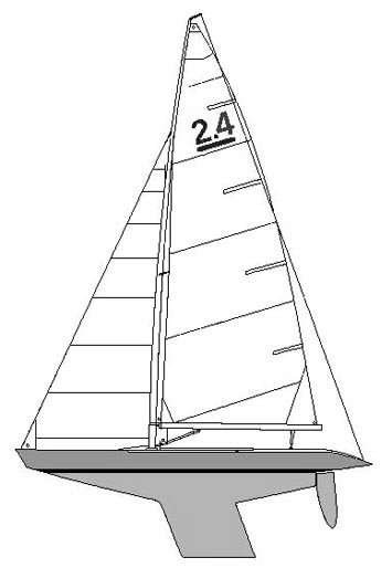 2.4 Meter drawing on sailboatdata.com