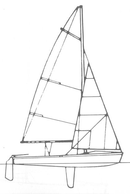 445 drawing on sailboatdata.com