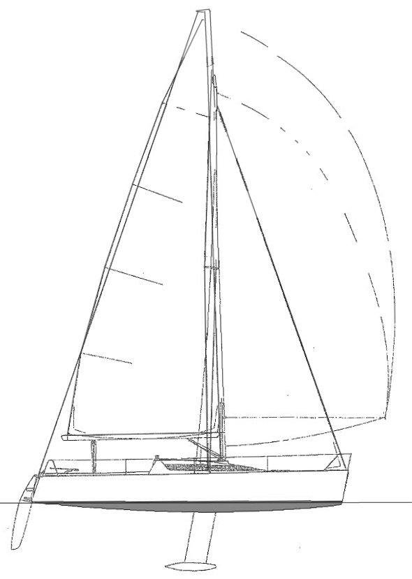 8M ONE DESIGN sailboat specifications and details on