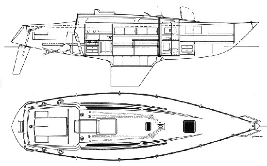 Abbott 36 drawing on sailboatdata.com