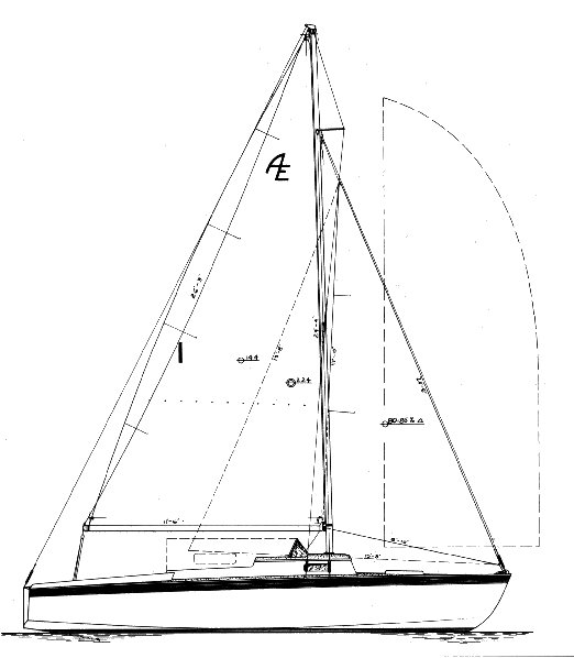 Amphi-ette drawing on sailboatdata.com