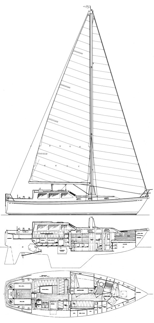 THREE SEAS 40 drawing