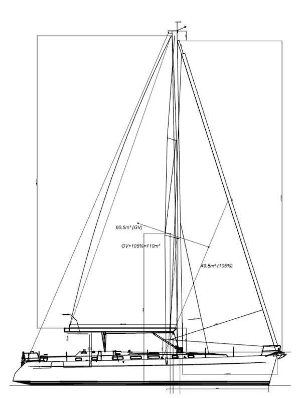 CYCLADES 51.5 (BENETEAU) drawing