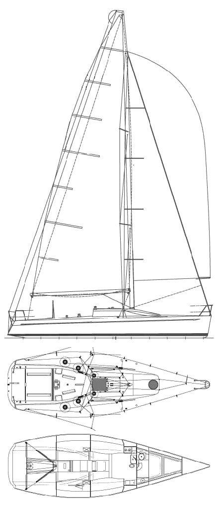 Farr 40 drawing on sailboatdata.com