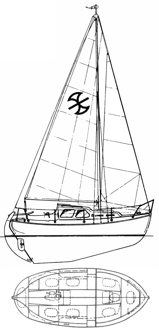 Nordica 20 drawing on sailboatdata.com