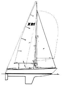 X-21 (Norton) drawing on sailboatdata.com