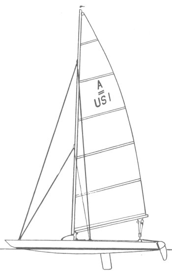 A-Lion drawing on sailboatdata.com