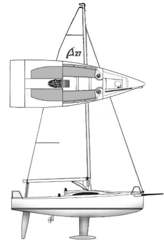 A 27 (Archambault) drawing on sailboatdata.com