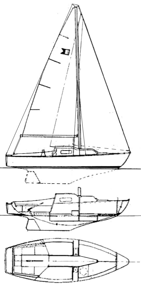 Able 20 drawing on sailboatdata.com