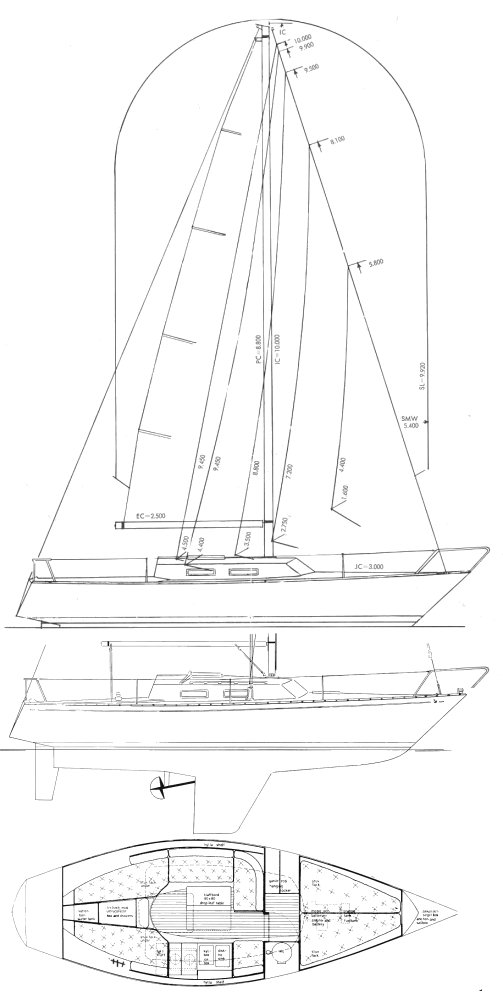 Accent 26 drawing on sailboatdata.com