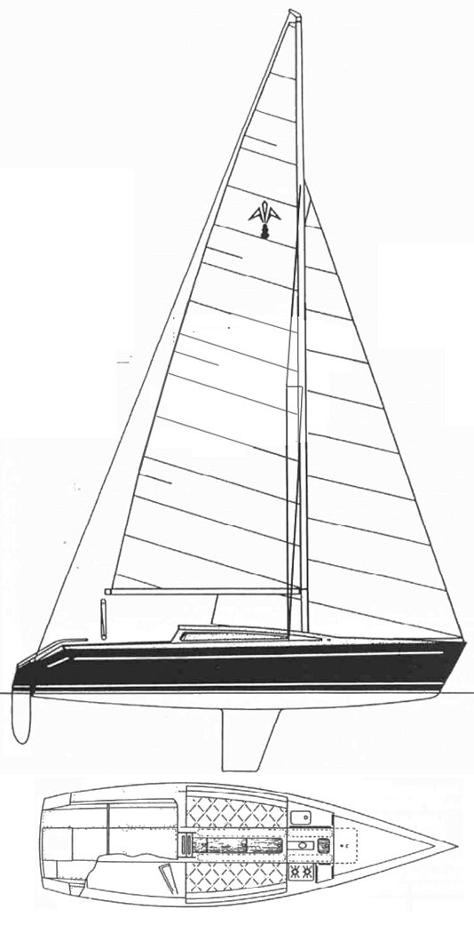 Adams 8 drawing on sailboatdata.com