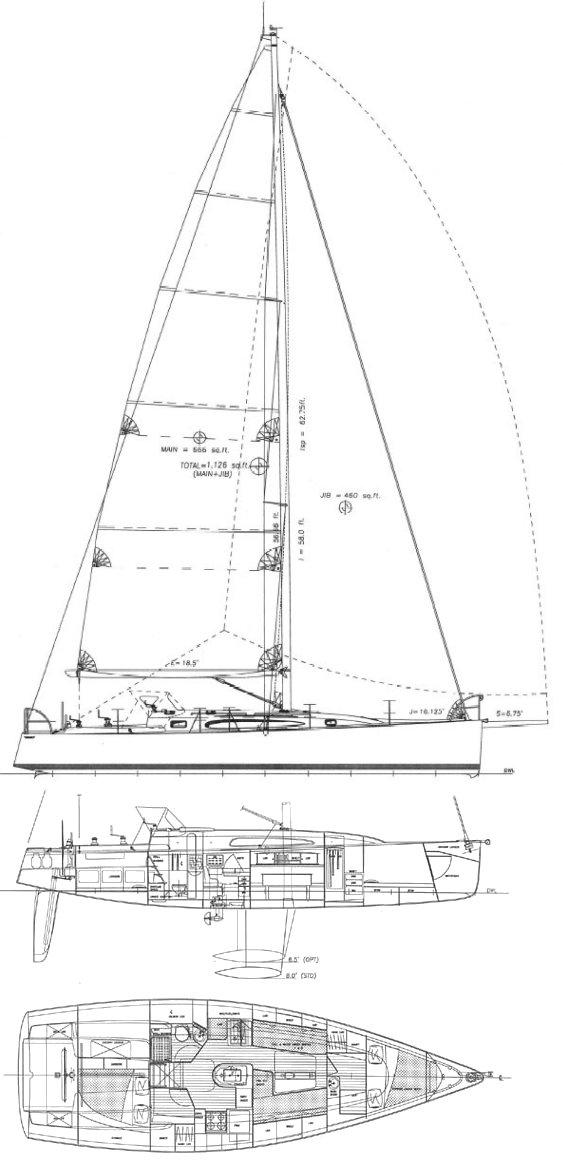 AERODYNE 43 drawing