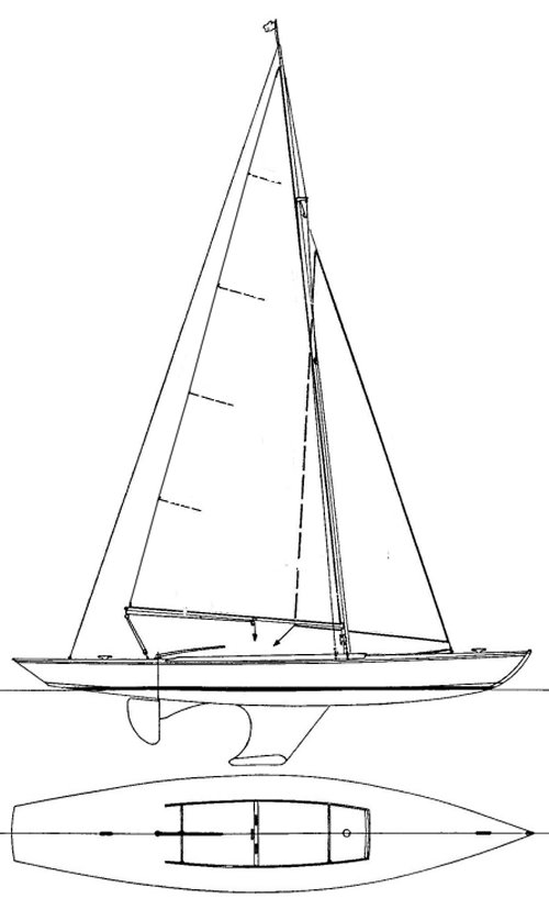 Aile drawing on sailboatdata.com
