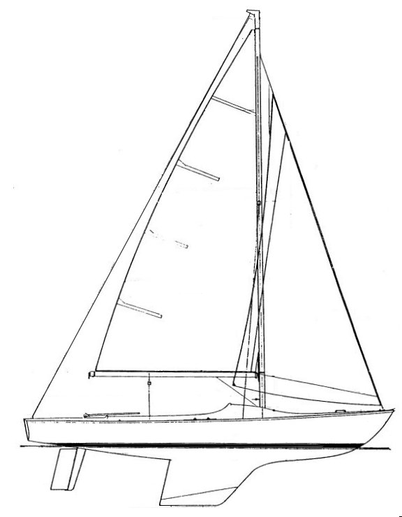 Ajax 23 drawing on sailboatdata.com