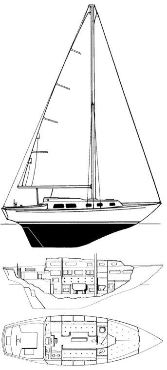 ALBERG 29 drawing