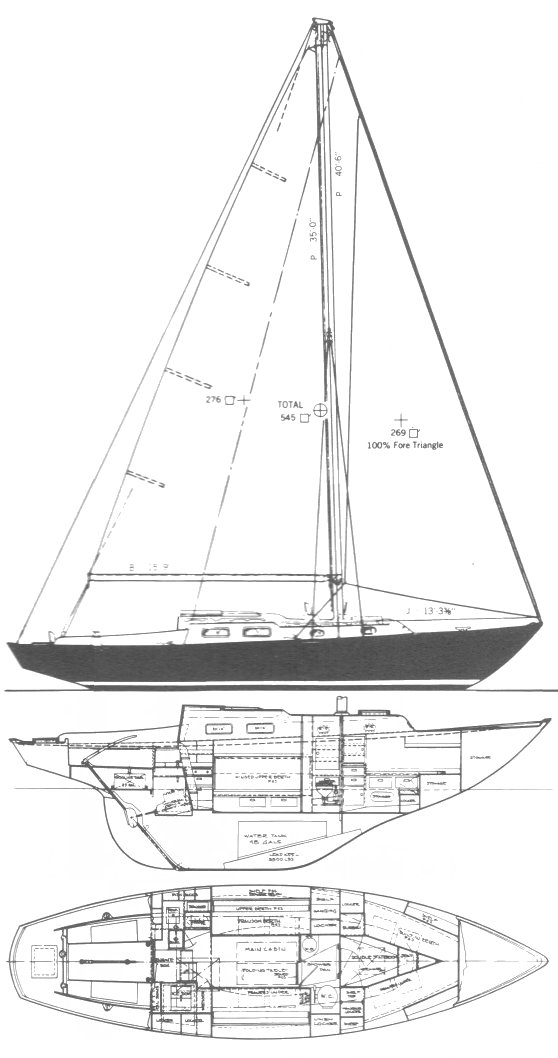 Alberg 35 drawing on sailboatdata.com