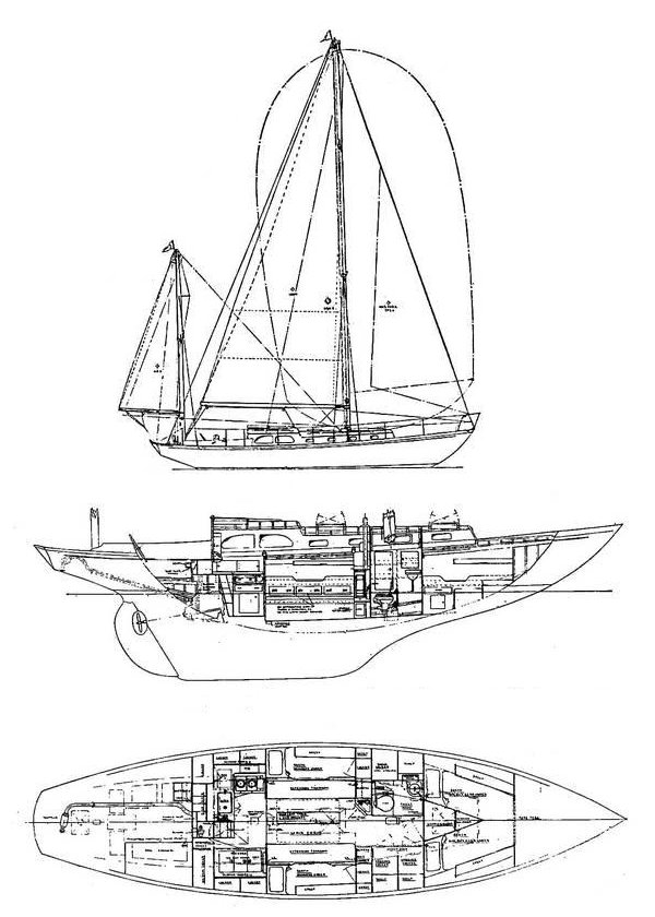 NORDFARER 42 (ALDEN) drawing