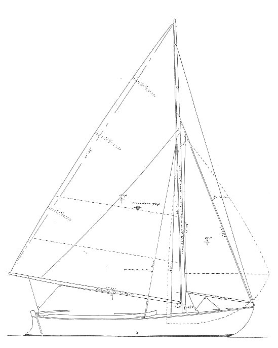 Alden O Class MK II drawing on sailboatdata.com