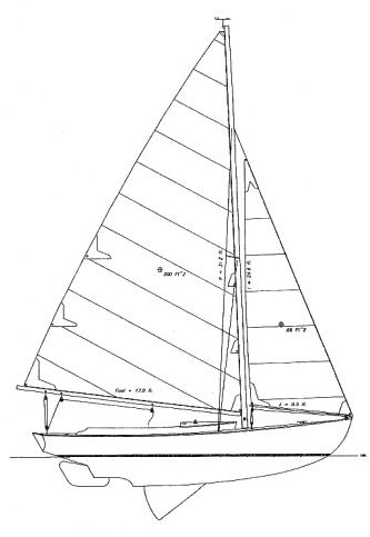 Aerion 26 (Herreshoff -marconi) drawing on sailboatdata.com