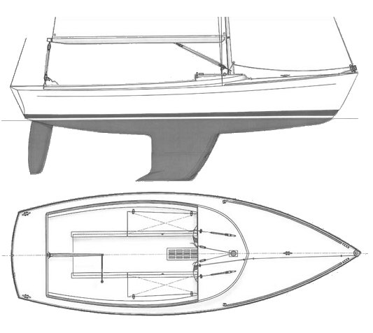Alerion Express 20 drawing on sailboatdata.com