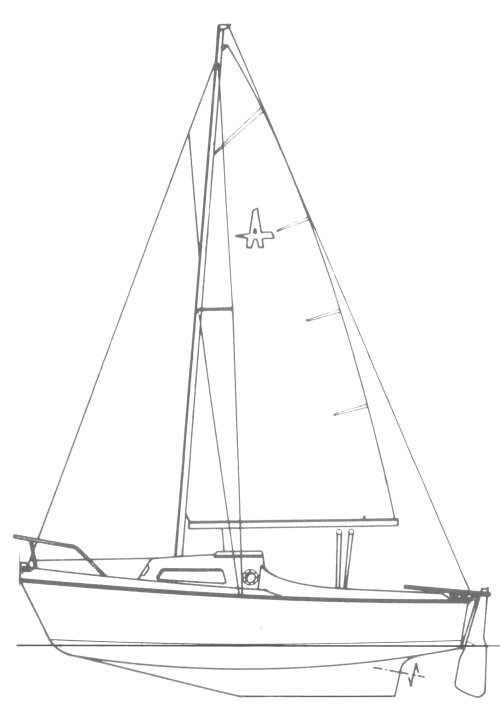 Alios (Lanaverre) drawing on sailboatdata.com