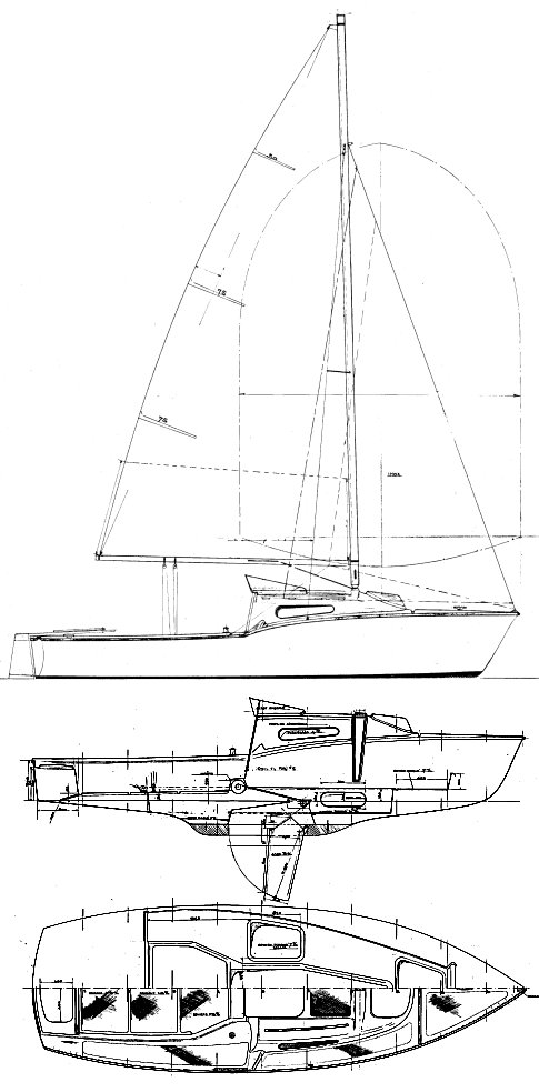 Alize 20 (Jeanneau) drawing on sailboatdata.com
