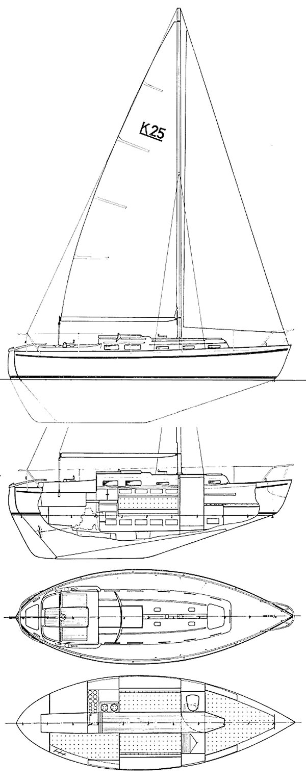 Allegro 27 drawing on sailboatdata.com