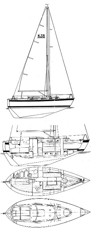 Allegro 30 drawing on sailboatdata.com