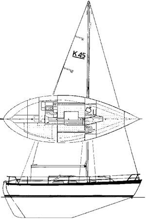 Allegro 33 drawing on sailboatdata.com