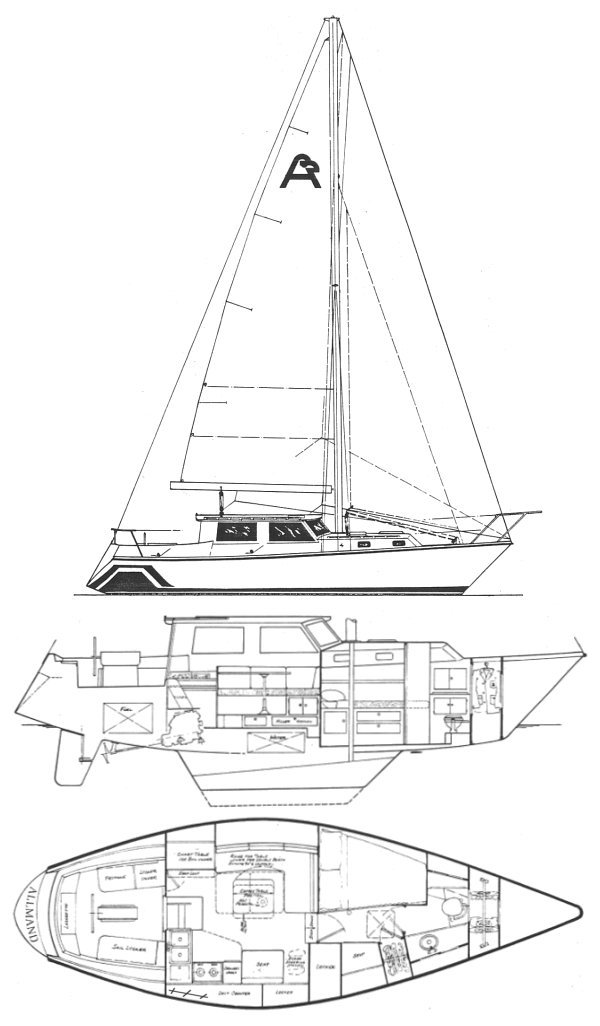 ALLMAND 35 PILOT HOUSE drawing