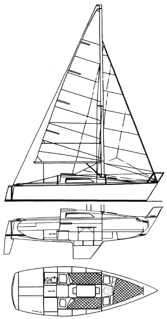 Aloa 23R drawing on sailboatdata.com