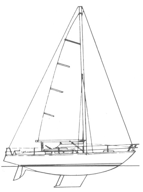 Aloa 34 drawing on sailboatdata.com