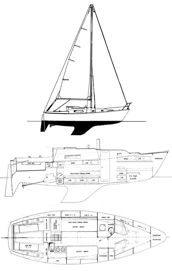 ALOHA 28 drawing