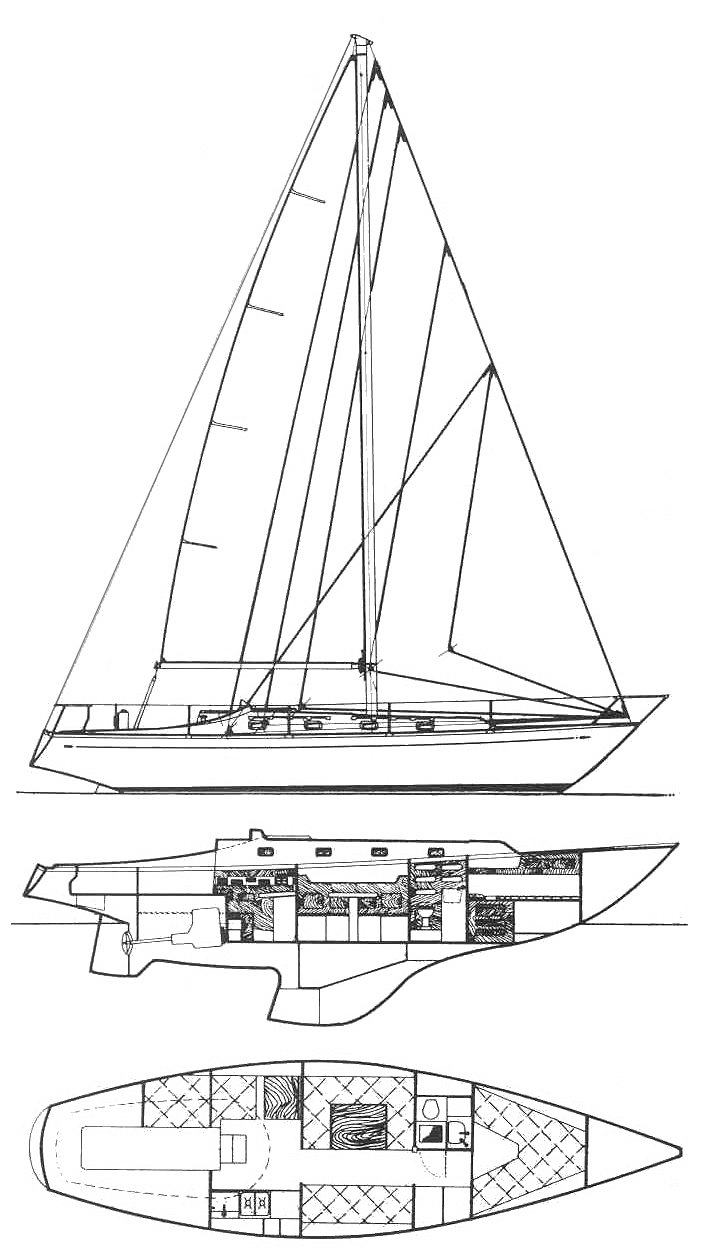 Alpa 1150 drawing on sailboatdata.com