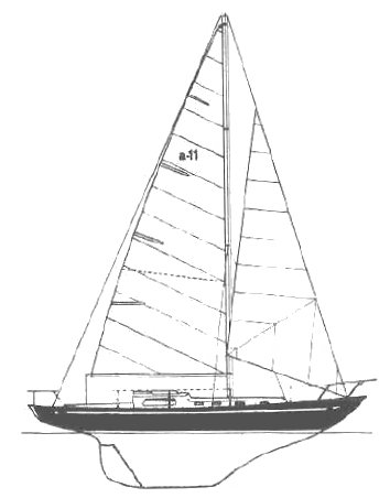 Alpa 11 drawing on sailboatdata.com