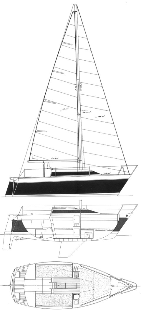 Alpa 21 drawing on sailboatdata.com
