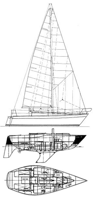 Alpa 27 drawing on sailboatdata.com