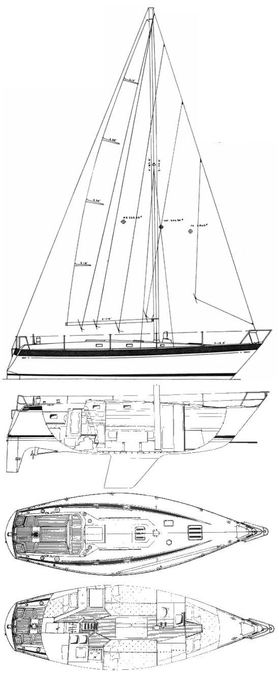 Alpa 34 drawing on sailboatdata.com