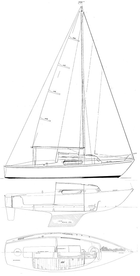Alpa 6 drawing on sailboatdata.com