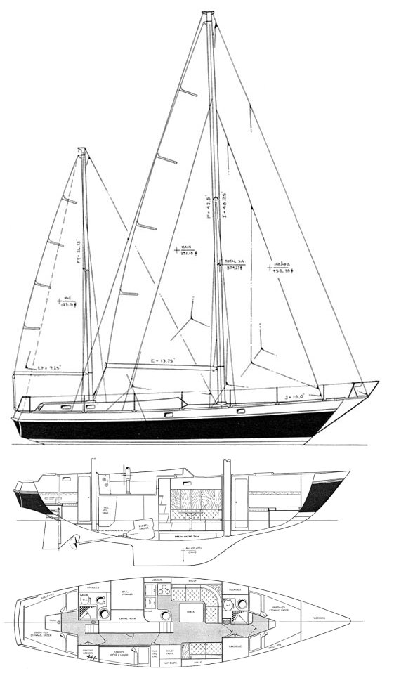 Alpa A42 drawing on sailboatdata.com
