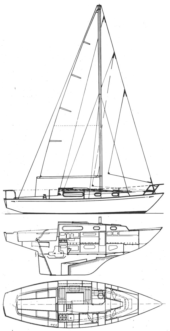 Alpa A9 drawing on sailboatdata.com