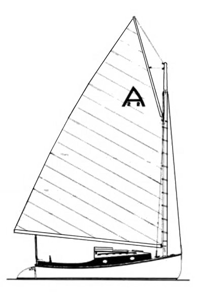 Americat 22 drawing on sailboatdata.com