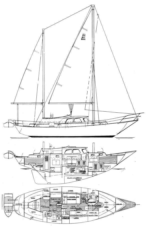 Anacapa 42 drawing on sailboatdata.com